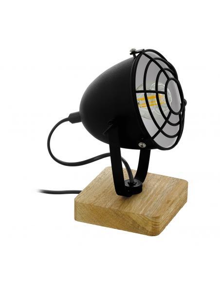 EGLO 43138 - GATEBECK 1 Lámpara de Salón en Madera naturaleza y Acero