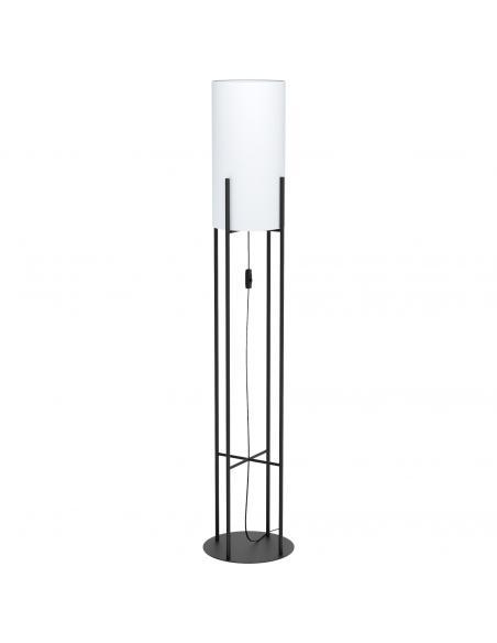EGLO 43141 - GLASTONBURY Lámpara de Salón en Acero negro y Textil