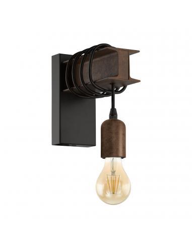 EGLO 43152 - TOWNSHEND 4 Lámpara de Salón en Acero negro, marrón