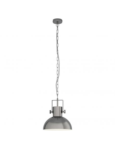 EGLO 43167 - LUBENHAM 1 Lámpara de Salón en Acero níquel antiguo, crema