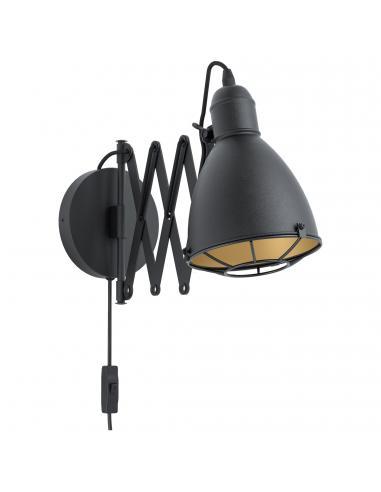 EGLO 43184 - TREBURLEY Lámpara de Salón en Acero negro, oro