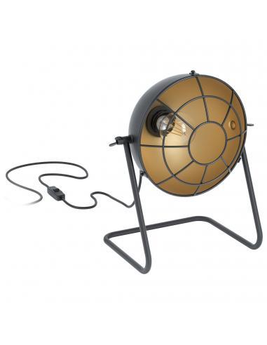 EGLO 43185 - TREBURLEY Lámpara de Salón en Acero negro, oro