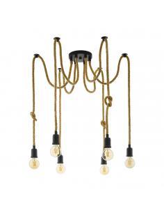 EGLO 43195 - RAMPSIDE Lámpara de Salón en Acero negro