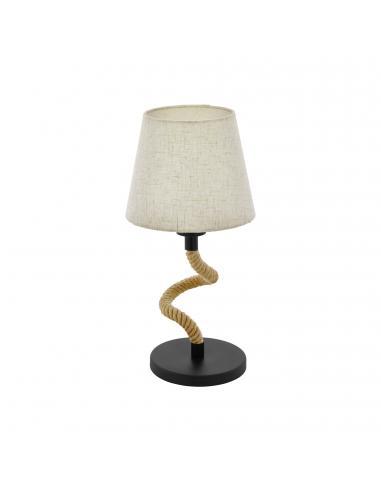 EGLO 43199 - RAMPSIDE Lámpara de Tela en Acero negro y Textil