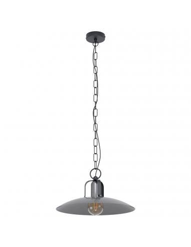 EGLO 43203 - KENILWORTH Lámpara de Salón en Acero negro y Acero