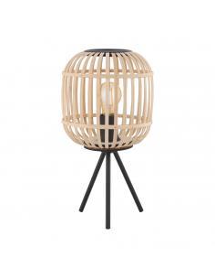 EGLO 43218 - BORDESLEY Lámpara de Salón en Acero negro y Madera