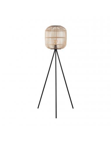 EGLO 43219 - BORDESLEY Lámpara de Salón en Acero negro y Madera