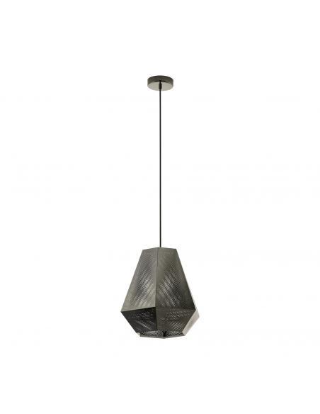 EGLO 43223 - CHIAVICA Lámpara de Salón en Acero nickel-negro