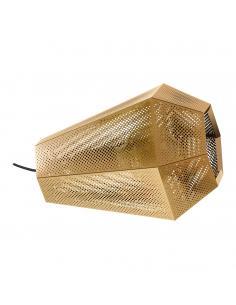 Lámpara de techo plafón en acero inoxidable y difusor blanco VENTO 1