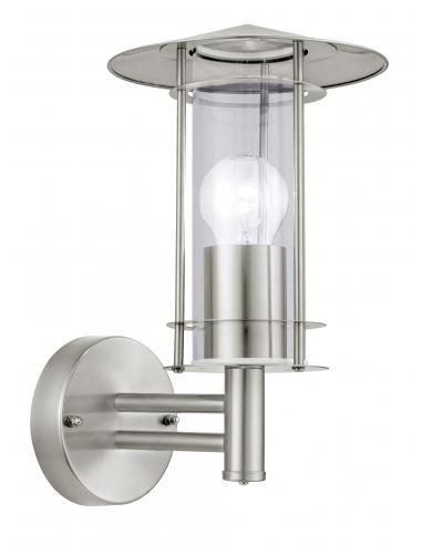 EGLO 30184 - LISIO Lámpara de pared en Acero inoxidable y Vidrio