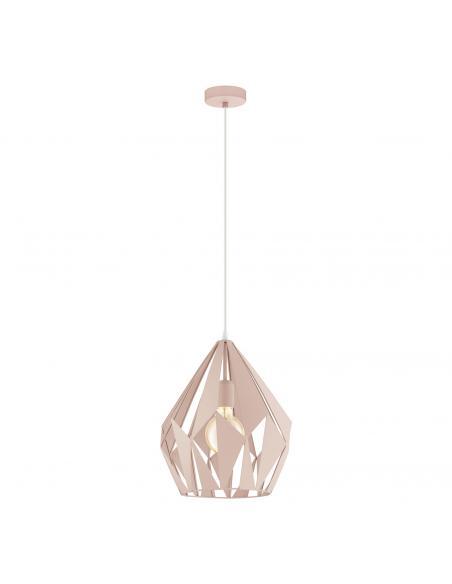 EGLO 49024 - CARLTON-P Lámpara de Salón en Acero pastel albaricoque