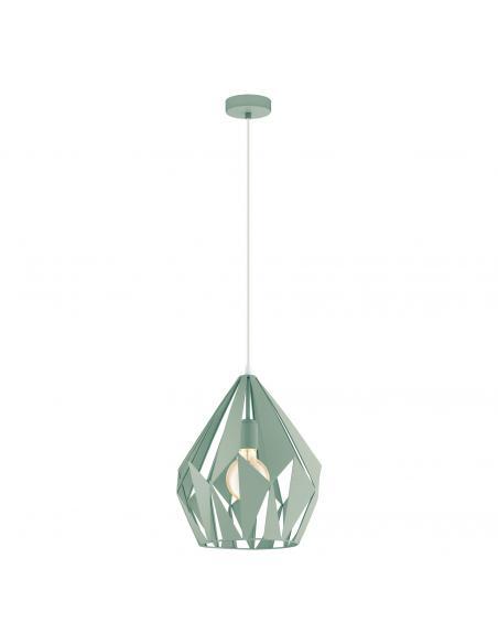 EGLO 49026 - CARLTON-P Lámpara de Salón en Acero pastel verde claro