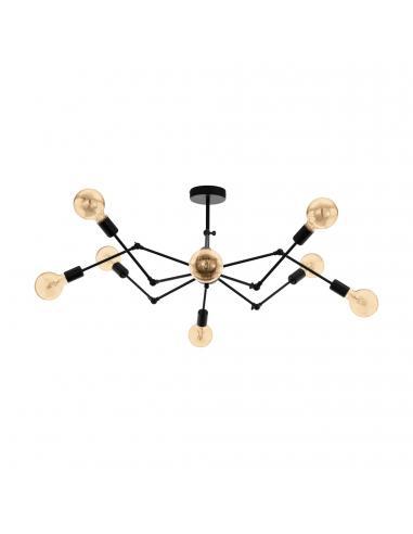 EGLO 49037 - EXMOOR Lámpara de Salón en Acero negro