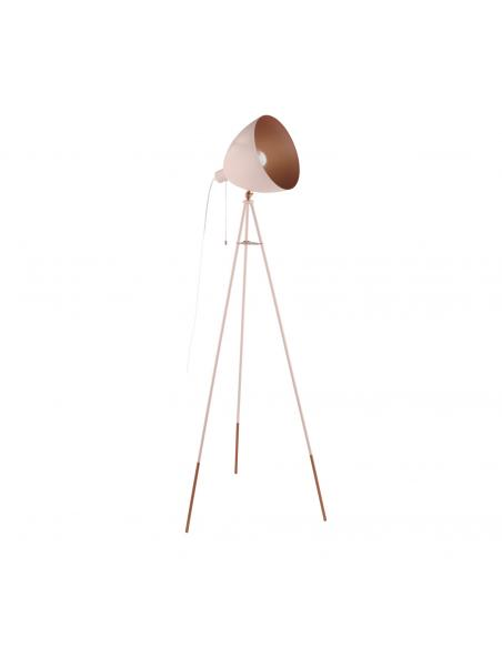 EGLO 49039 - CHESTER-P Lámpara de Salón en Acero pastel albaricoque, cobre