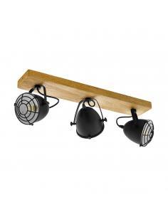 EGLO 49078 - GATEBECK Foco LED en Madera naturaleza y Acero