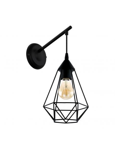 EGLO 49081 - TARBES Lámpara de Salón en Acero negro
