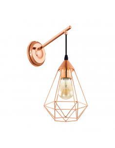 EGLO 49082 - TARBES Lámpara de Salón en Acero cobre