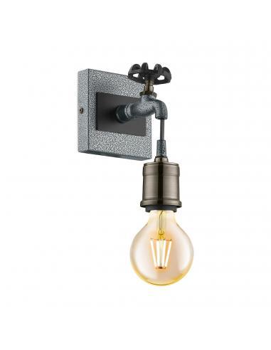 EGLO 49101 - GOLDCLIFF Lámpara de Salón en Acero, madera plata-antiguo, negro y Acero