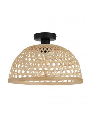 EGLO 43251 - CLAVERDON Lámpara colgante en Acero y Madera