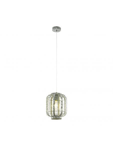 EGLO 49133 - HAGLEY Lámpara de Salón en Acero crema-oro