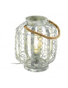 EGLO 49134 - HAGLEY Lámpara de Salón en Acero crema-oro