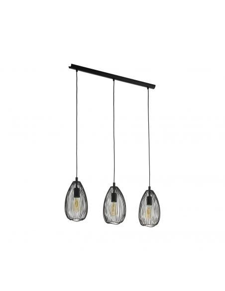 EGLO 49142 - CLEVEDON Lámpara de Salón en Acero negro
