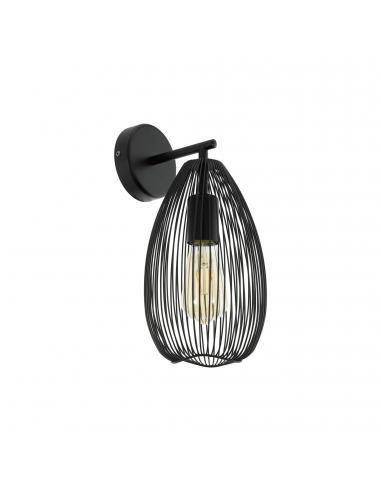 EGLO 49143 - CLEVEDON Lámpara de Salón en Acero negro
