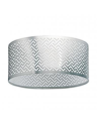 Plafón de exterior aluminio antracita cuadrado LED integrado ARGOLIS
