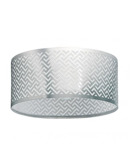 EGLO 49161 - LEAMINGTON 1 Lámpara de Salón en Acero níquel-mate, cromo y Lámina brillante