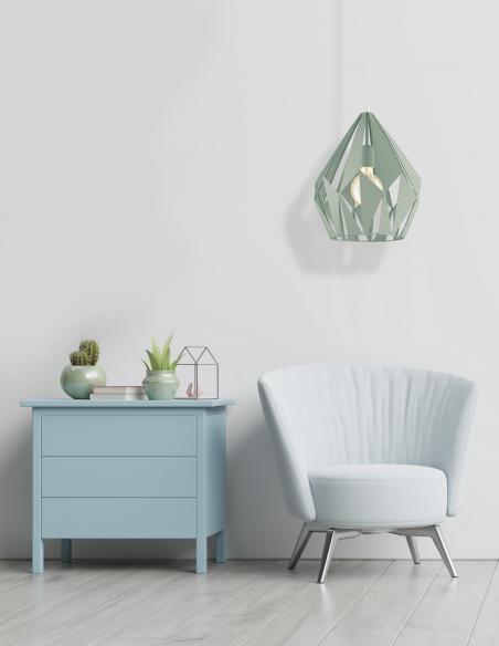 EGLO 49029- Lámpara de techo en verde pastel