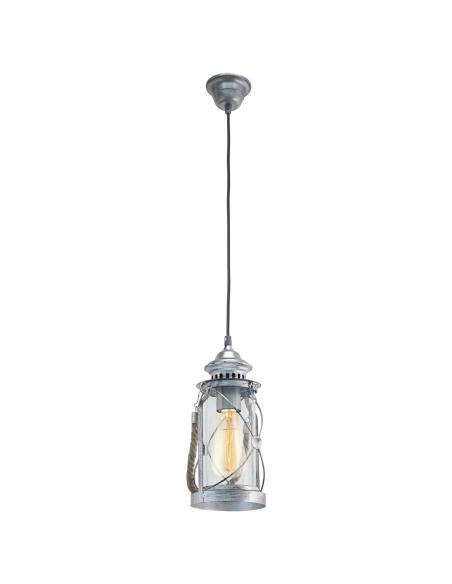 Lámpara de pie-farola de exterior acero negro ALAMONTE 1