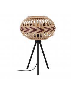 EGLO 43274 - DONDARRION Lámpara de mesa en Acero y Madera