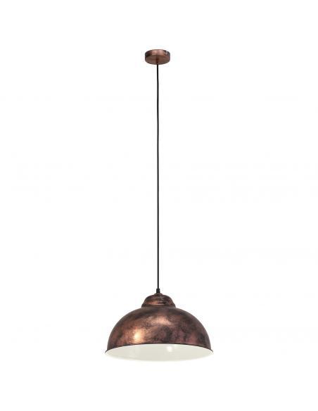 EGLO 49248 - TRURO 2 Lámpara colgante de Cobre en Acero colores de cobre antiguo
