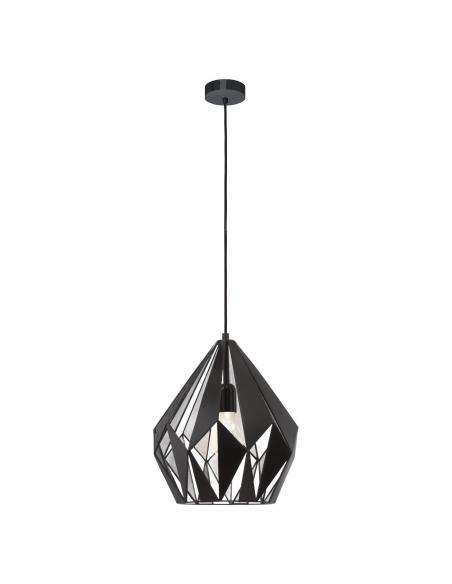 EGLO 49255 - CARLTON 1 Lámpara de Salón en Acero negro, plata