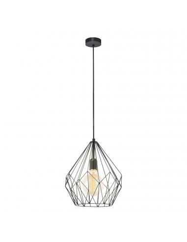 EGLO 49257 - CARLTON Lámpara de Salón en Acero negro