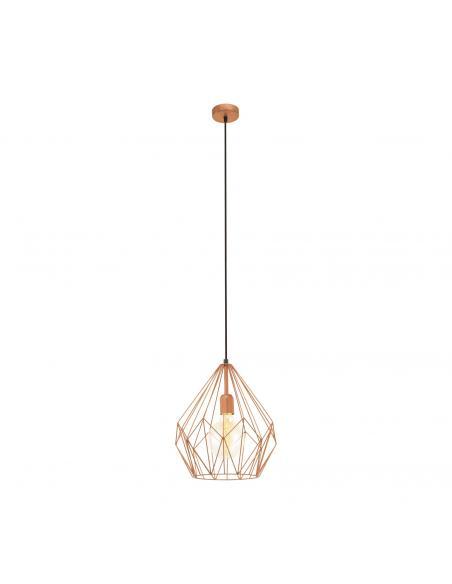 EGLO 49258 - CARLTON Lámpara colgante de Cobre en Acero colores de cobre