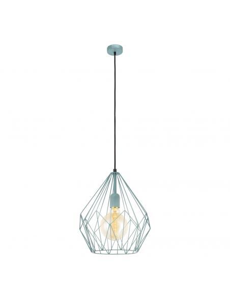 EGLO 49259 - CARLTON Lámpara de Salón en Acero menta