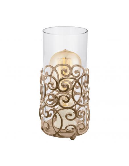 EGLO 49274 - CARDIGAN Lámpara de Salón en Acero marrón-pátina y Vidrio