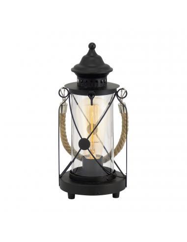 EGLO 49283 - BRADFORD Lámpara de Salón en Acero negro y Vidrio