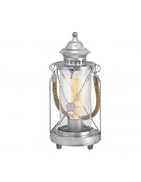 EGLO 49284 - BRADFORD Lámpara de Salón en Acero plata antigua y Vidrio
