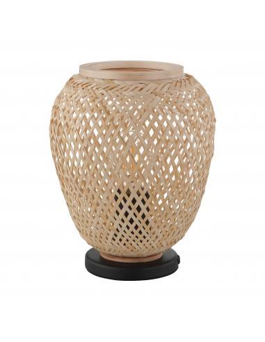 EGLO 43263 - DEMBLEBY Lámpara de mesa en Acero y Madera