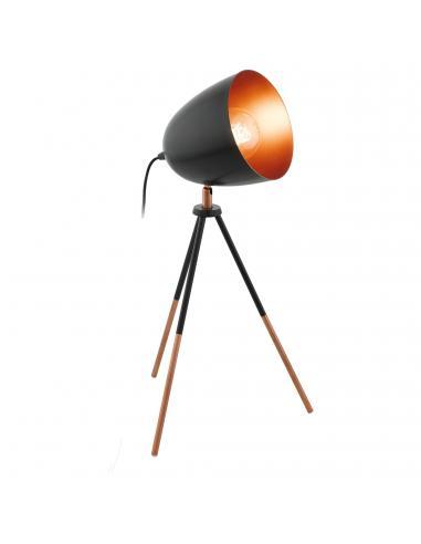 EGLO 49385 - CHESTER Lámpara de Salón en Acero negro, cobre