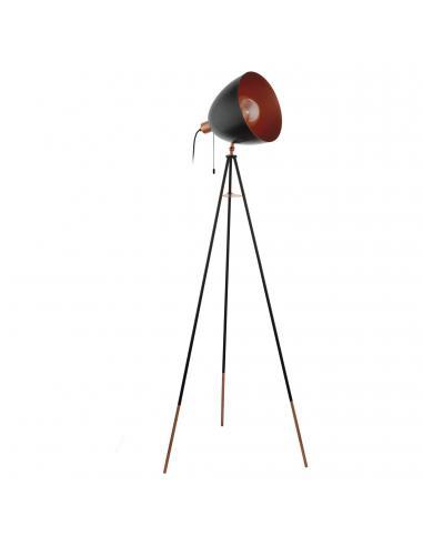 EGLO 49386 - CHESTER Lámpara de Salón en Acero negro, cobre