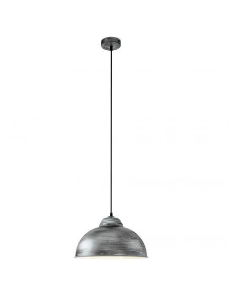 EGLO 49389 - TRURO 2 Lámpara de Salón en Acero plata antigua