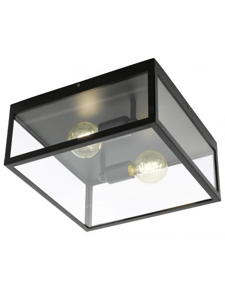 EGLO 49392 - CHARTERHOUSE Lámpara de Salón en Acero negro y Vidrio