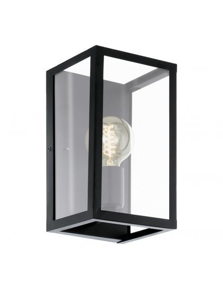 EGLO 49394 - CHARTERHOUSE Lámpara de Salón en Acero negro y Vidrio