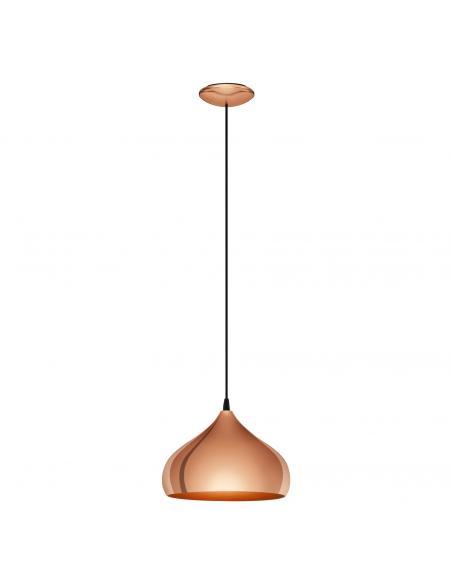 EGLO 49449 - HAPTON Lámpara colgante de Cobre en Acero cobre