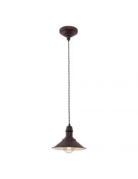 EGLO 49455 - STOCKBURY Lámpara de Salón en Acero marrón antiguo, beige