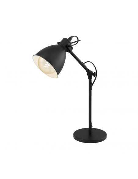 EGLO 49469 - PRIDDY Lámpara de Salón en Acero negro, blanco