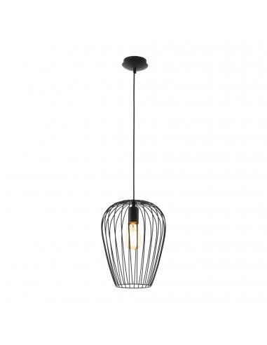 EGLO 49472 - NEWTOWN Lámpara de Salón en Acero negro
